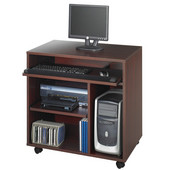 Ready-to-Use Computer Desk, Mahogany, 31-3/4''W x 19-3/4''D x 31-1/2''H