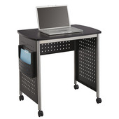 Scoot Sit-Down Desk, Black, 32-1/2''W x 22''D x 30-1/2''H