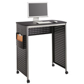 Scoot Stand-Up Desk, Black, 39-1/2''W x 23-1/4''D x 42''H