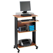 Muv Stand-Up Desk, Cherry, 29-1/2''W x 22''D x 45''H