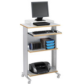 Muv Stand-Up Desk, Gray, 29-1/2''W x 22''D x 45''H