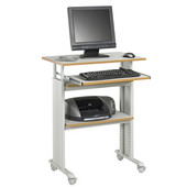 Muv Stand-Up Adjustable-Height Desk, Gray, 29-1/2''W x 22''D x 35'' - 49''H