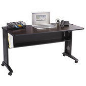 Computer Desk, Reversible Top, 53-1/2''W x 28''D x 30''H
