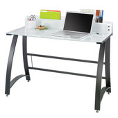 Xpressions Computer Desk, Tempered Glass, 47''W x 23''D x 37''H