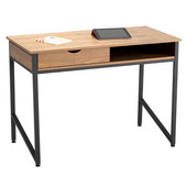 Single Drawer Office Desk, Black, 43-1/4''W x 21-5/8''D x 30-3/4''H