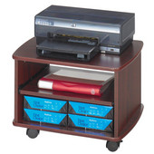Picco Duo Printer Stand, Mahogany, 22-1/4''W x 16-1/4''D x 15-1/2''H