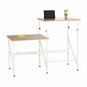 Elevate™ Bi-Level Standing-Height Desk, Beech, 57-1/2''W x 24''D x 38'' to 50''H