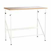 Elevate™ Standing-Height Desk, Beech, 48''W x 24''D x 38'' to 50''H