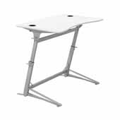 Verve™ Standing-Height Desk, White Tabletop, 47-1/4''W x 31-3/4''D x 36'' to 42''H