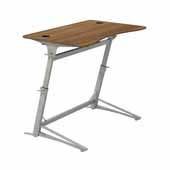 Verve™ Standing-Height Desk, Walnut Tabletop, 47-1/4''W x 31-3/4''D x 36'' to 42''H