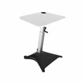 Brio™ Standing Desk, White, 30''W x 24-1/2''D x 33-1/4'' to 47-3/4''H