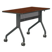 Rumba™ Rectangle Table, 48'' x 24'', Cherry Top/Black Base