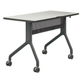 Rumba� Rectangle Table, 48'' x 24'', Gray Top/Black Base