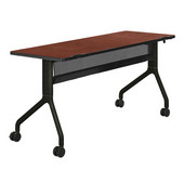 Rumba™ Rectangle Table, 60'' x 24'', Cherry Top/Black Base