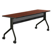 Rumba™ Rectangle Table, 72'' x 24'', Cherry Top/Black Base