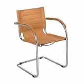 Flaunt Guest Chair, Camel Micro Fiber, 21-1/2''W x 23''D x 31-3/4''H