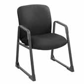 Uber™ Big and Tall Guest Chair, Black Fabric, 27-1/4''W x 29-1/2''D x 35-3/4''H