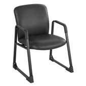 Uber™ Big and Tall Guest Chair, Black Vinyl, 27-1/4''W x 29-1/2''D x 35-3/4''H