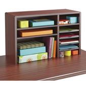Compact Desktop Organizer, Mahogany, 29''W x 12''D x 18''H