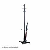 Coat Rack with Umbrella Stand, Black, 21''W x 21''D x 70''H