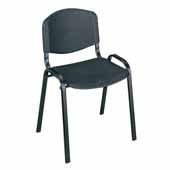 Light Weight Stack Chairs, Black, Set of 4, 21-1/4''W x 17-3/4''D x 30-1/2''H