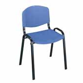 Light Weight Stack Chairs, Blue, Set of 4, 21-1/4''W x 17-3/4''D x 30-1/2''H