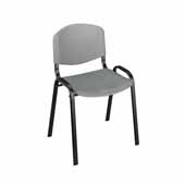 Light Weight Stack Chairs, Charcoal, Set of 4, 21-1/4''W x 17-3/4''D x 30-1/2''H