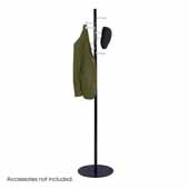 Spiral Nail Head Coat Rack, Black with Silver, 15''W x 15''D x 67''H