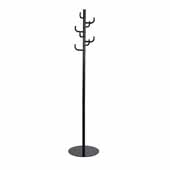 Hook Head Coat Rack, Black, 15''W x 15''D x 68''H