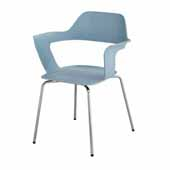 Bandi™ Shell Stack Chair, Blue, 23-3/4''W x 19''D x 31''H - Set of 2