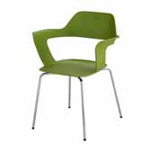 Bandi™ Shell Stack Chair, Green, 23-3/4''W x 19''D x 31''H - Set of 2