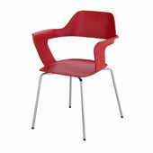 Bandi™ Shell Stack Chair, Red, 23-3/4''W x 19''D x 31''H - Set of 2