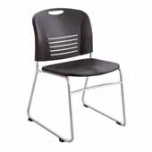 Vy™ Guest Height Sled Base Chair, Black, 22-1/2''W x 19-1/2''D x 32-1/2''H - Set of 2