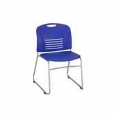 Vy� Guest Height Sled Base Chair, Blue, 22-1/2''W x 19-1/2''D x 32-1/2''H - Set of 2