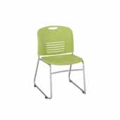 Vy™ Guest Height Sled Base Chair, Green, 22-1/2''W x 19-1/2''D x 32-1/2''H - Set of 2