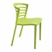 Entourage™ Stack Chair, Grass, 19-1/2''W x 21-1/2''D x 30''H - Set of 4