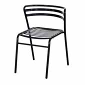CoGo� Steel Outdoor/Indoor Stack Chair - Set of 2, Black, 18-1/2''W x 22''D x 28-3/4''H