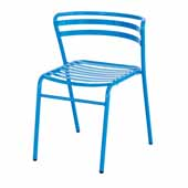 CoGo� Steel Outdoor/Indoor Stack Chair - Set of 2, Blue, 18-1/2''W x 22''D x 28-3/4''H