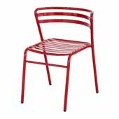 CoGo� Steel Outdoor/Indoor Stack Chair - Set of 2, Red, 18-1/2''W x 22''D x 28-3/4''H