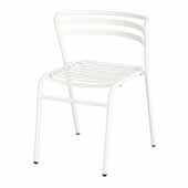 CoGo� Steel Outdoor/Indoor Stack Chair - Set of 2, White, 18-1/2''W x 22''D x 28-3/4''H