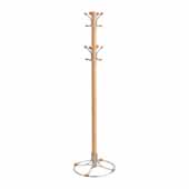 Bamboo Coat Rack, Natural, 20''W x 20''D x 69-1/2''H