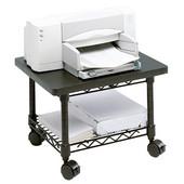 Underdesk Printer/Fax Stand, Black, 19''W x 16''D x 13-1/2''H