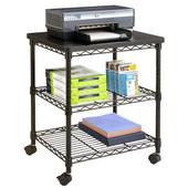 Desk Side Wire Machine Stand, Black, 24''W x 20''D x 27''H