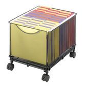 Onyx Rolling File Cube, Mesh, Black, 13-1/2''W x 16-3/4''D x 13''H