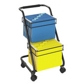 Jazz Two-Tier File Cart, Black, 15-3/4''W x 19''D x 28''H