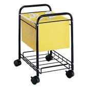 Mobile Desk Side File Cart, Black, 17-1/2''W x 13''D x 22''H