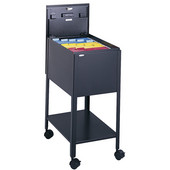 Standard Mobile Tub File Cart with Lock, Black, 13-1/2''W x 19-1/4''D x 28''H