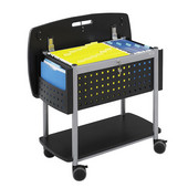 Scoot Mobile File Cart with Top Worksurface, Black, 29-3/4''W x 18-3/4''D x 27''H