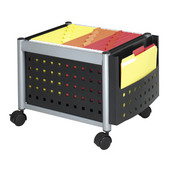 Mini-Scoot Mobile File Cart, Black, 19''W x 14-3/4''D x 14''H