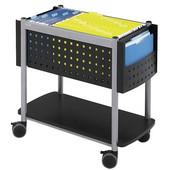 Scoot Open Top Mobile File Cart, Black, 28''W x 14-3/4''D x 26''H